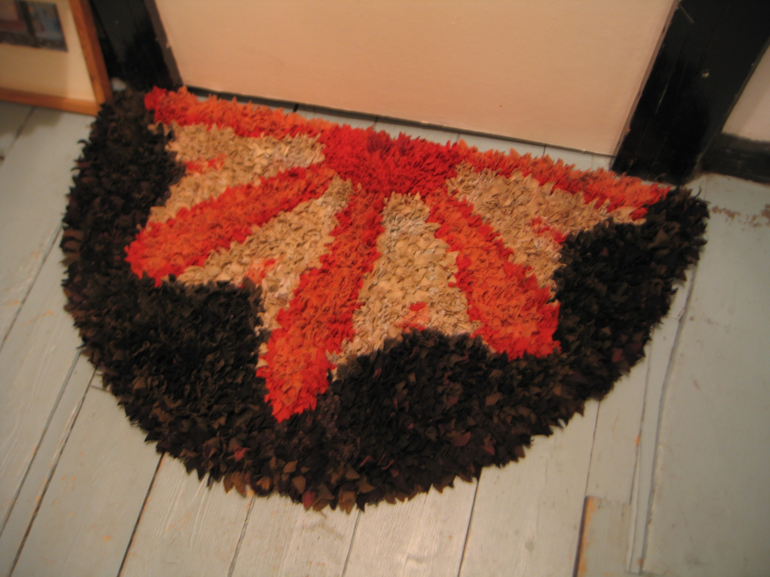 One of the rag rugs