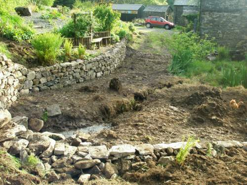 The Bog Garden retaining wall -  now that's what I call craft