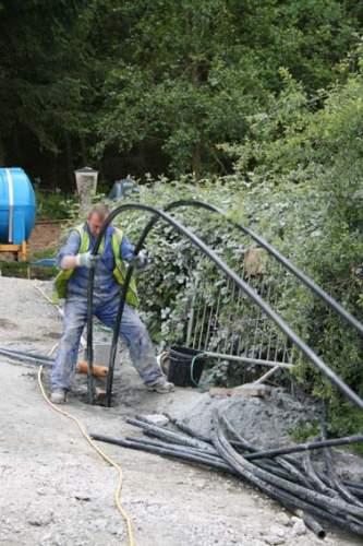 One man fixing machine