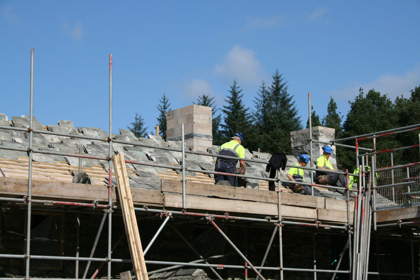 The roofers also ready for action