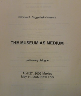 The Museum as Medium
