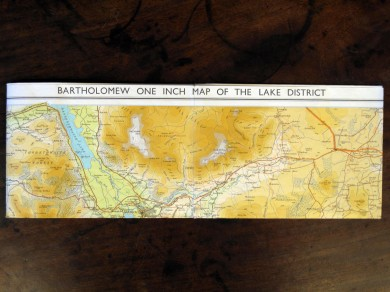 Bartholomew one inch map of the Lake District.