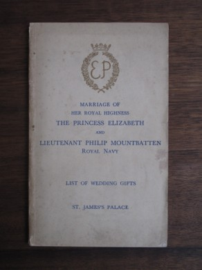 Marriage of Her Royal Highness the Princess Elizabeth and Lieutenant Philip Mountbatten