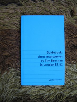 Guidebook : three manoeuvres by Tim Brennan in London E1