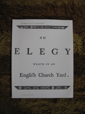An elegy wrote in an English church yard