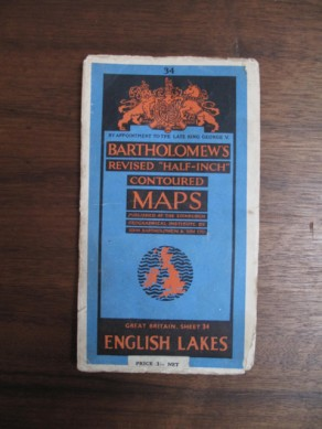 Bartholomew's Revised Half-Inch Contoured Map of the English Lakes