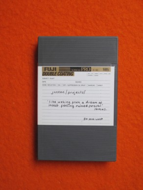 Juneau Projects: 'like waking from a dream of incest feeling ruined forever' (unmarked vhs)
