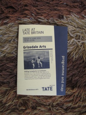 Late at Tate Britain: Grizedale Arts