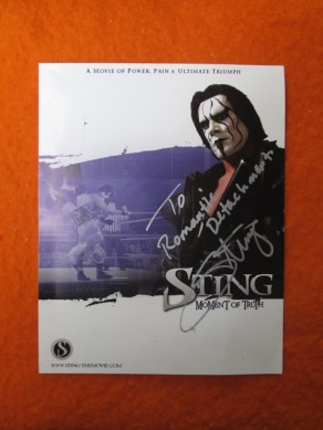 Sting Signed Autograph
