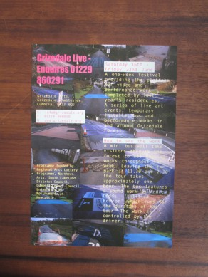 Grizedale Live Flyer