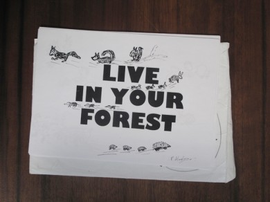 Peter Hodgson Photocopies for Live in Your Forest