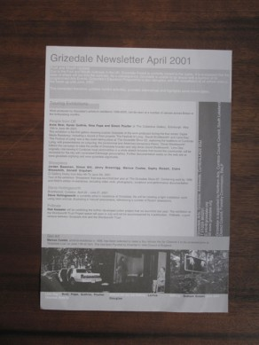 Grizedale Newsletter April–May 2001