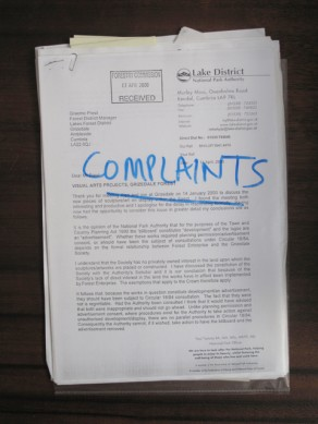 Grizedale Arts Complaints Folder
