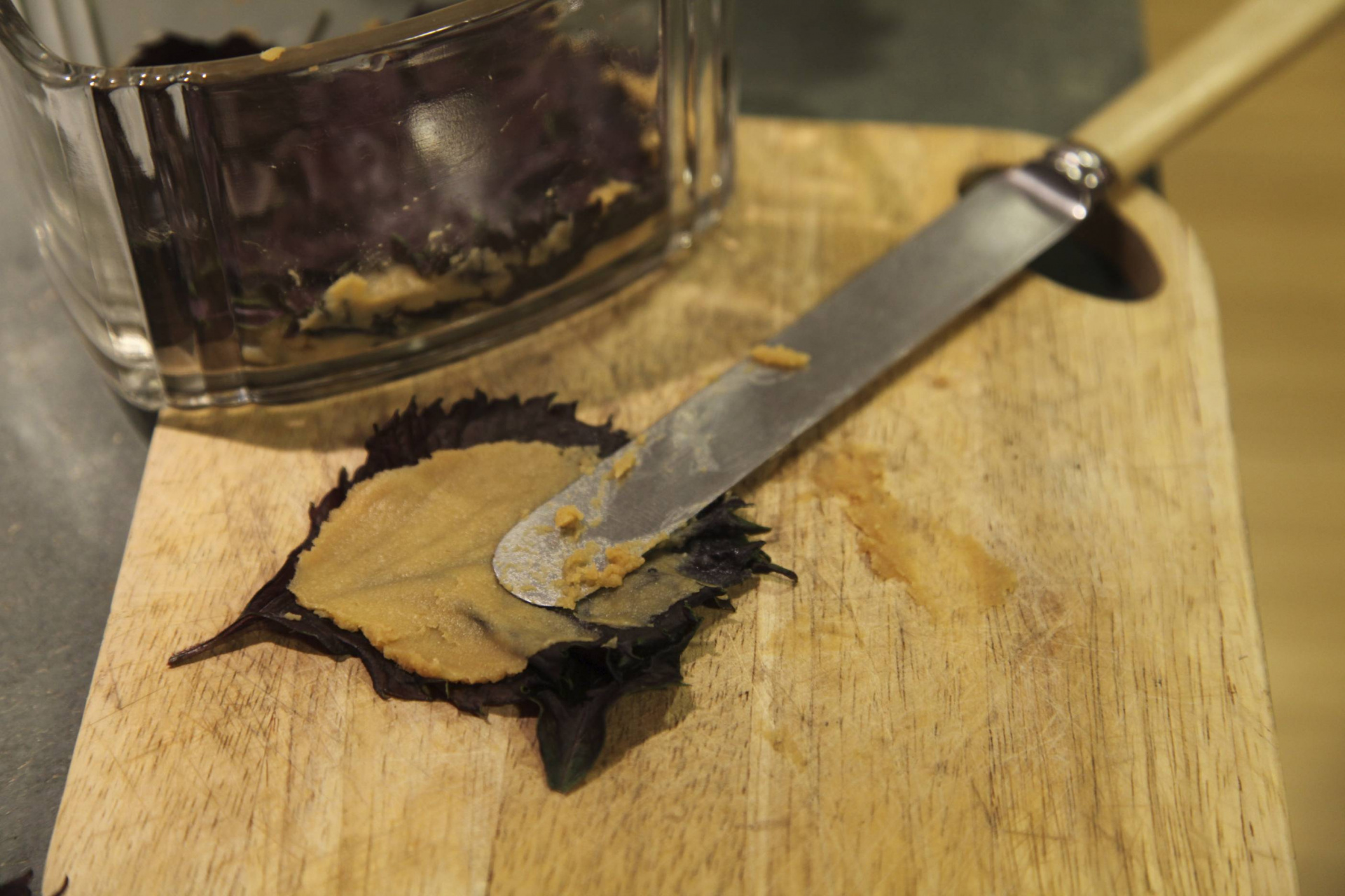 Shiso preserved in miso